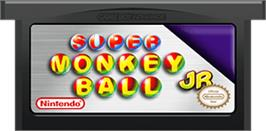 Cartridge artwork for Super Monkey Ball Jr. on the Nintendo Game Boy Advance.