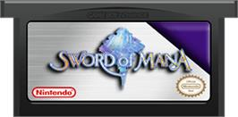 Cartridge artwork for Sword of Mana on the Nintendo Game Boy Advance.