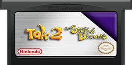 Cartridge artwork for Tak 2: The Staff of Dreams on the Nintendo Game Boy Advance.