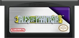 Cartridge artwork for Tales of Phantasia on the Nintendo Game Boy Advance.