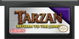 Cartridge artwork for Tarzan: Return to the Jungle on the Nintendo Game Boy Advance.