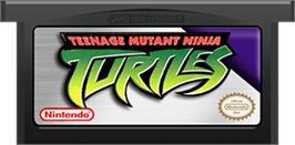 Cartridge artwork for Teenage Mutant Ninja Turtles on the Nintendo Game Boy Advance.