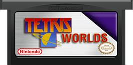 Cartridge artwork for Tetris Worlds on the Nintendo Game Boy Advance.