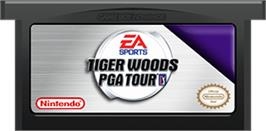 Cartridge artwork for Tiger Woods PGA Tour Golf on the Nintendo Game Boy Advance.