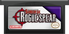 Cartridge artwork for Tom Clancy's Rainbow Six: Rogue Spear on the Nintendo Game Boy Advance.