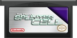 Cartridge artwork for Tom Clancy's Splinter Cell on the Nintendo Game Boy Advance.
