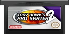 Cartridge artwork for Tony Hawk's Pro Skater 2 on the Nintendo Game Boy Advance.