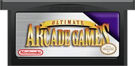Cartridge artwork for Ultimate Arcade Games on the Nintendo Game Boy Advance.