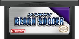 Cartridge artwork for Ultimate Beach Soccer on the Nintendo Game Boy Advance.