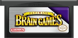 Cartridge artwork for Ultimate Brain Games on the Nintendo Game Boy Advance.