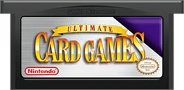 Cartridge artwork for Ultimate Card Games on the Nintendo Game Boy Advance.