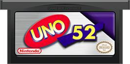 Cartridge artwork for Uno 52 on the Nintendo Game Boy Advance.
