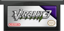Cartridge artwork for V-Rally 3 on the Nintendo Game Boy Advance.