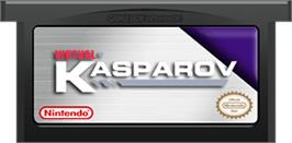 Cartridge artwork for Virtual Kasparov on the Nintendo Game Boy Advance.