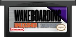 Cartridge artwork for Wakeboarding Unleashed featuring Shaun Murray on the Nintendo Game Boy Advance.