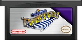 Cartridge artwork for WarioWare Twisted on the Nintendo Game Boy Advance.