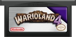 Cartridge artwork for Wario Land 4 on the Nintendo Game Boy Advance.