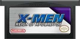 Cartridge artwork for X-Men: Reign of Apocalypse on the Nintendo Game Boy Advance.