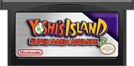 Cartridge artwork for Yoshi's Island: Super Mario Advance 3 on the Nintendo Game Boy Advance.