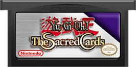 Cartridge artwork for Yu-Gi-Oh! The Sacred Cards on the Nintendo Game Boy Advance.