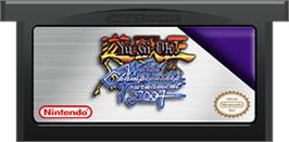 Cartridge artwork for Yu-Gi-Oh! World Championship Tournament 2004 on the Nintendo Game Boy Advance.