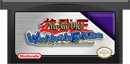 Cartridge artwork for Yu-Gi-Oh! Worldwide Edition: Stairway to the Destined Duel on the Nintendo Game Boy Advance.