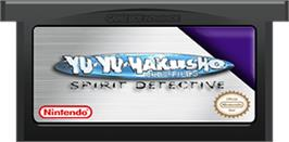 Cartridge artwork for Yu Yu Hakusho: Spirit Detective on the Nintendo Game Boy Advance.