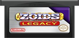 Cartridge artwork for Zoids: Legacy on the Nintendo Game Boy Advance.