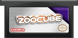 Cartridge artwork for ZooCube on the Nintendo Game Boy Advance.