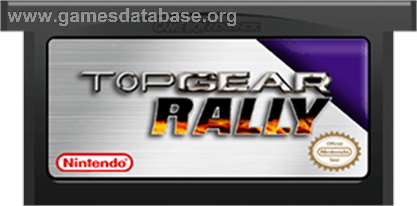 Cartridge artwork for Top Gear Rally on the Nintendo Game Boy Advance.
