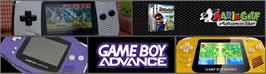 Arcade Cabinet Marquee for Mario Golf: Advance Tour.