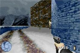 In game image of 007: Nightfire on the Nintendo Game Boy Advance.