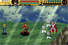 In game image of Advance Guardian Heroes on the Nintendo Game Boy Advance.