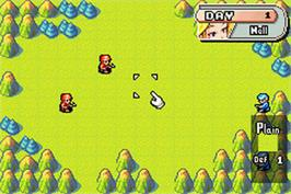 In game image of Advance Wars on the Nintendo Game Boy Advance.