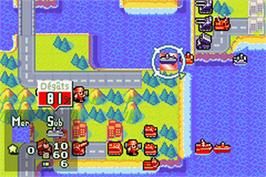 In game image of Advance Wars 2: Black Hole Rising on the Nintendo Game Boy Advance.