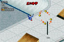 In game image of Aggressive Inline on the Nintendo Game Boy Advance.