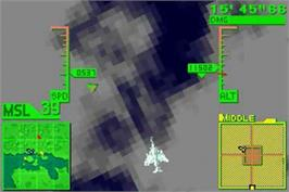 In game image of Air Force Delta Storm on the Nintendo Game Boy Advance.