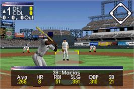 In game image of All-Star Baseball 2003 on the Nintendo Game Boy Advance.