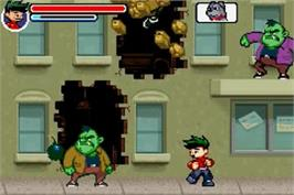 In game image of American Dragon: Jake Long - Rise of the Huntsclan on the Nintendo Game Boy Advance.