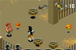 In game image of Animaniacs: Lights, Camera, Action on the Nintendo Game Boy Advance.
