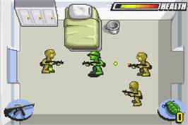 In game image of Army Men: Advance on the Nintendo Game Boy Advance.