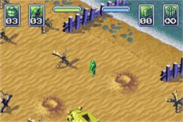 In game image of Army Men: Operation Green on the Nintendo Game Boy Advance.