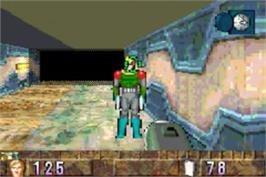 In game image of BackTrack on the Nintendo Game Boy Advance.