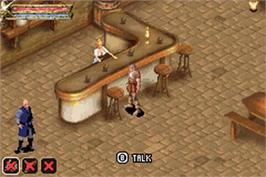 In game image of Baldur's Gate: Dark Alliance on the Nintendo Game Boy Advance.