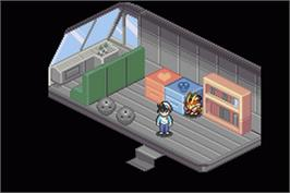 In game image of Baseball on the Nintendo Game Boy Advance.