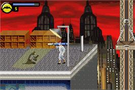 In game image of Batman: Vengeance on the Nintendo Game Boy Advance.