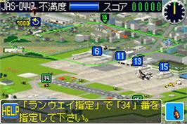 In game image of Boku Wa Koukuu Kansei-An on the Nintendo Game Boy Advance.