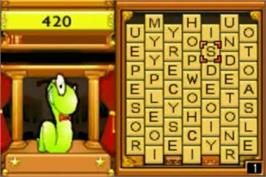 In game image of BookWorm Deluxe on the Nintendo Game Boy Advance.