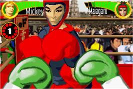 In game image of Boxing Fever on the Nintendo Game Boy Advance.