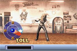 In game image of Britney's Dance Beat on the Nintendo Game Boy Advance.